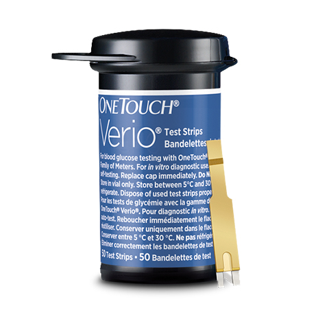 OneTouch Verio Blood Glucose Test Strips Vial