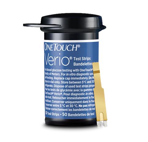 Flacon de bandelettes de test de glycémie OneTouch Verio