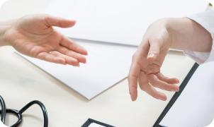 Doctor's hands